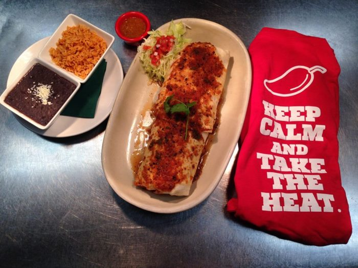 Think you can finish the 3 Pound Cinco Chiles Burrito Challenge?