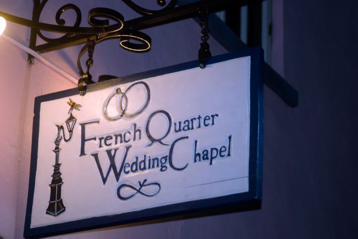This chapel was established in 2000 and has already officiated over 13,000 weddings. It's found at 333 Burgundy St.