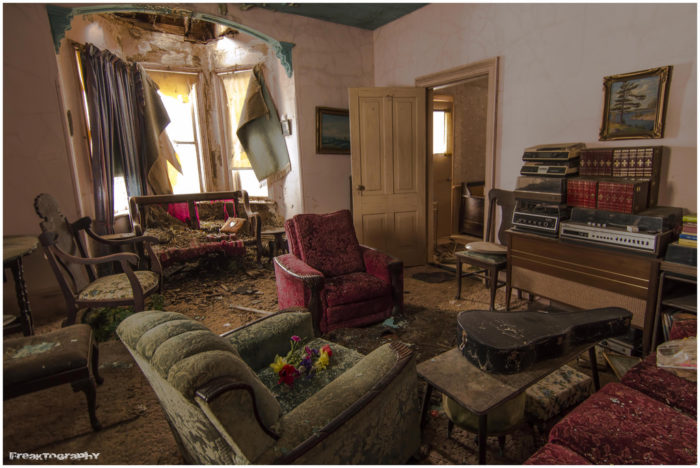 The house once belonged to an older woman who was extremely religious.