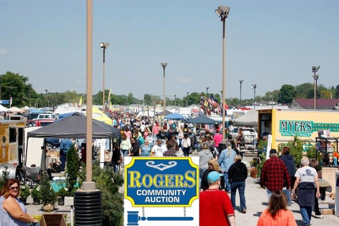 1. Rogers Community Auction and Open Air Market