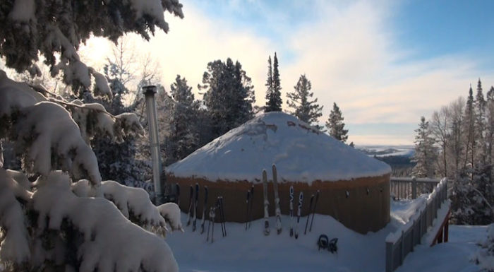 10. Camp in a back-country yurt.
