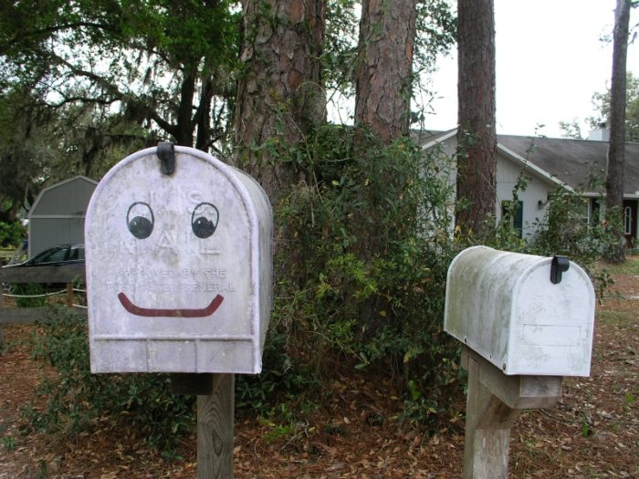 9. The mailman could deliver any letter, even if you forgot the address.