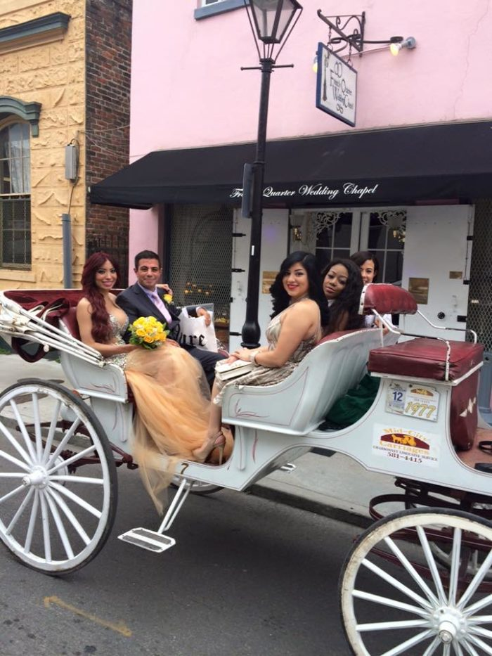 They also offer a special French Quarter Carriage ride wedding package.