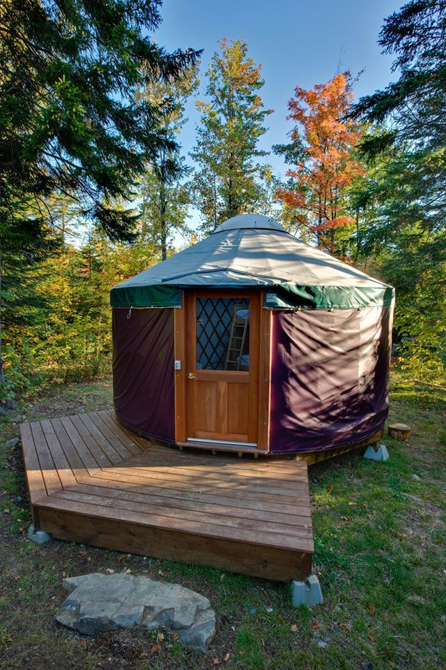 5. The Yurts at Milan Hill State Park, Milan
