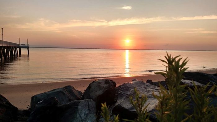 Of course, one of the best reasons to go to Woodland Beach is to enjoy solitude while the sun sets or rises