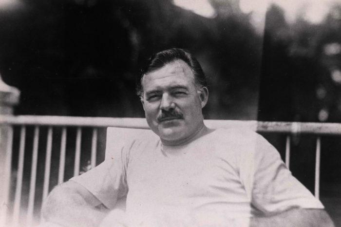Ernest Hemingway in Cuba. Ida Woodward Barron Collection.