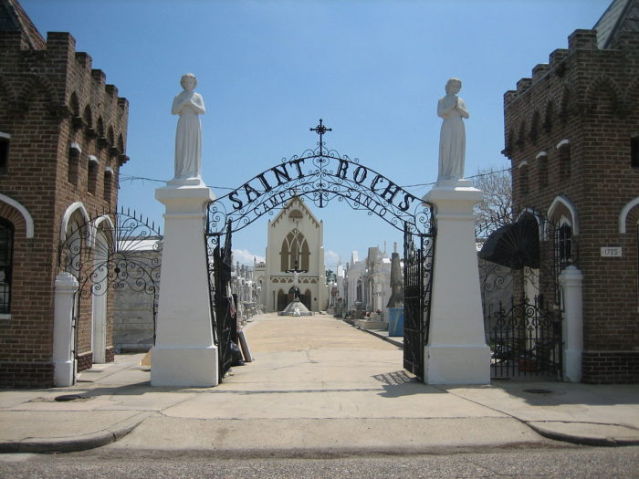 St. Roch Cemetery and shrine is found on 1725 St. Roch Ave.