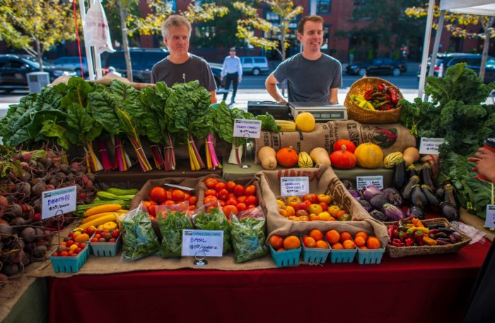 Start your leisurely Saturday morning in the plaza at the Union Station Farmers Market.