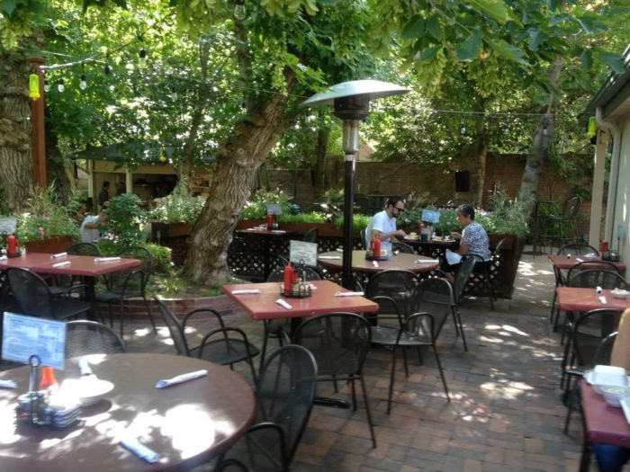 You'll definitely want to visit Ruth's during the summer, so you can enjoy the outdoor patio.