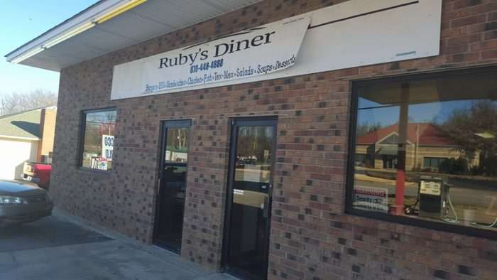 Ruby's Diner is an unassuming looking place, but don't underestimate the flavor you'll find there. . .