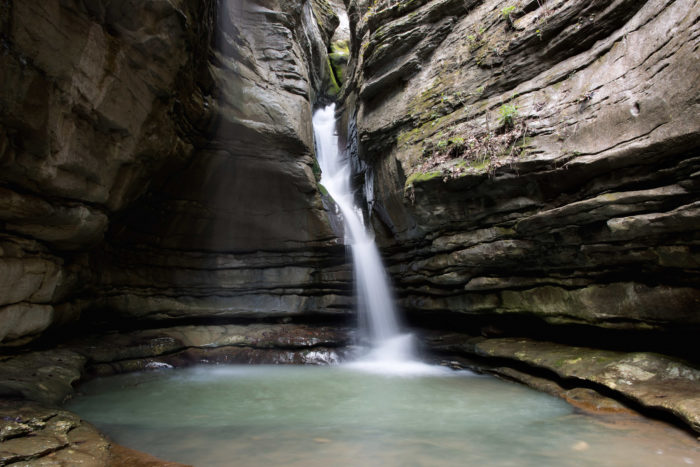 In times of heavy rainfall, you can find waterfalls in the grottoes near the headwaters of the Buffalo National River.