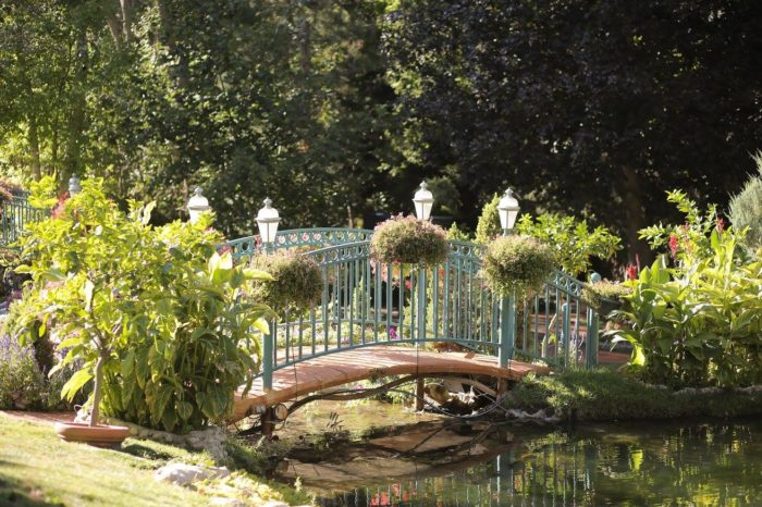La Caille's stunning grounds change with the seasons. Spring is fresh and lovely.