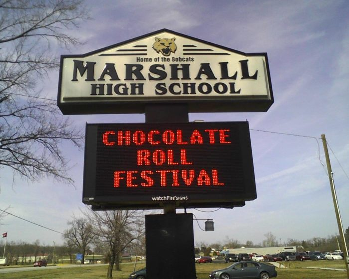 The town of Marshall is so serious about chocolate rolls that they have a Chocolate Roll Festival every year in March.