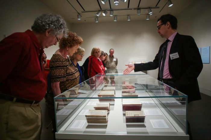 Members can enjoy special tours throughout the Harry Ransom Center.