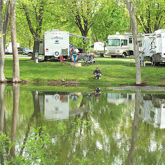 Or, embrace the rustic outdoors by camping at Friendship Village. Park your RV or rent a cabin or a cottage for a traditional camping experience.
