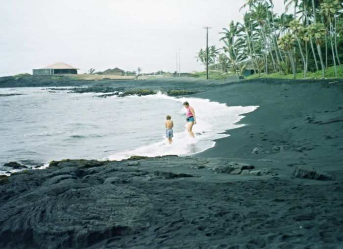 13. Visit one of Hawaii's stunning black sand beaches, like Punalu'u.