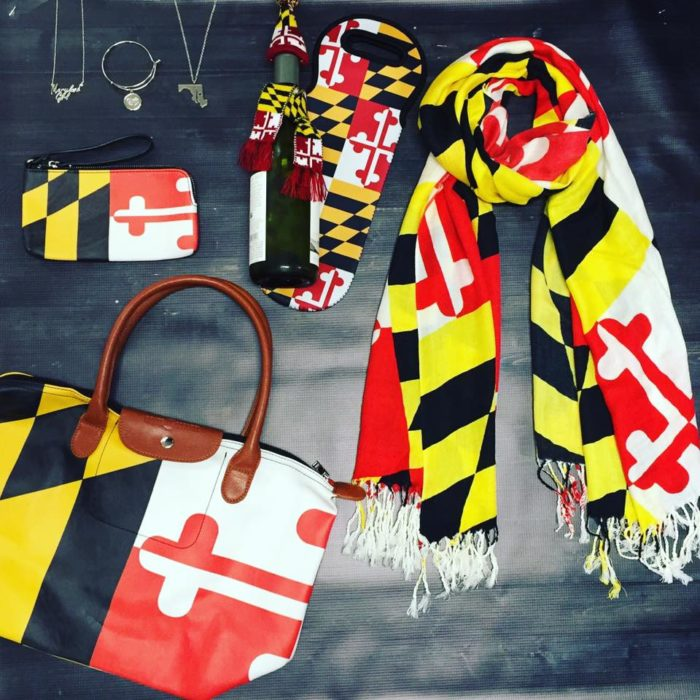 9. Accessorize with Maryland's state flag.