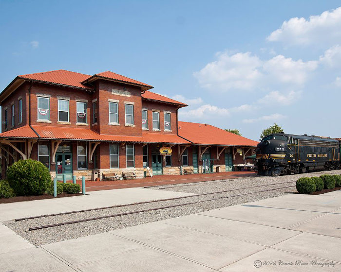 You'll start your journey at the Elkins Depot.