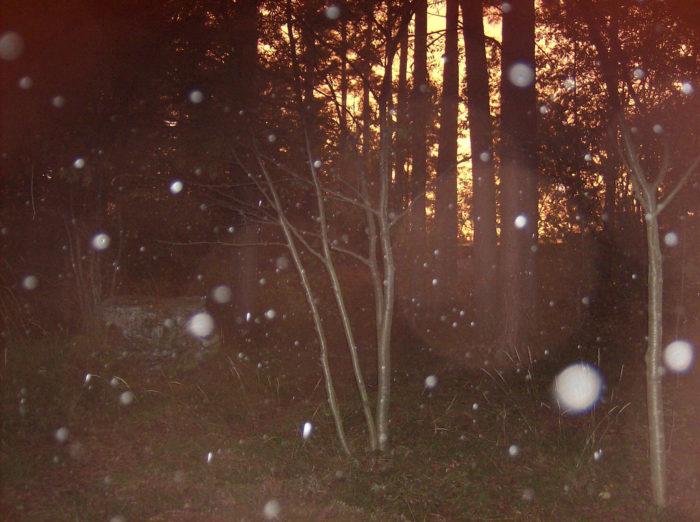 Bright white orbs.