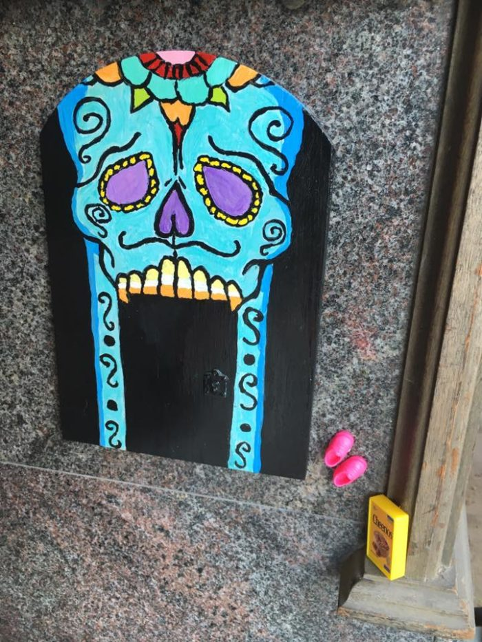 There\u0027s no way you\u0027ll miss the Day Of The Dead Door by Jennifer Beckett! & There Are Fairy Doors Hiding In Connecticut