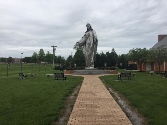 6. A 34-foot tall statue of Mary
