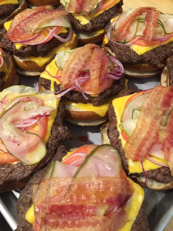 Backyard BBQ burgers!