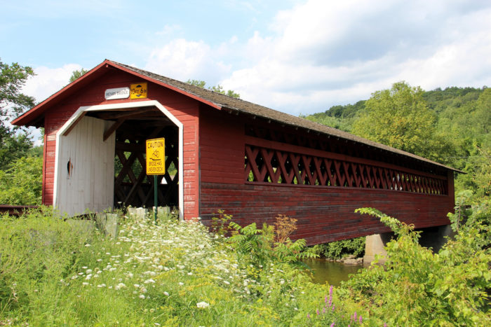 8.  Travel across one of Vermont's historic covered bridges.