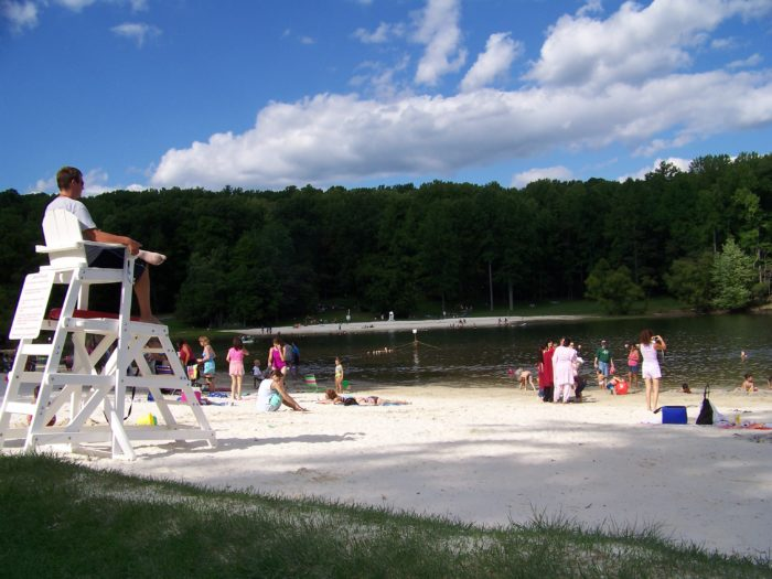 Naturally, however, most people head here in the summer to relax on the beach or enjoy a dip in the lake.