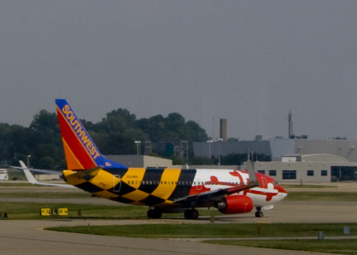 6. Put Maryland's flag on your airplane.