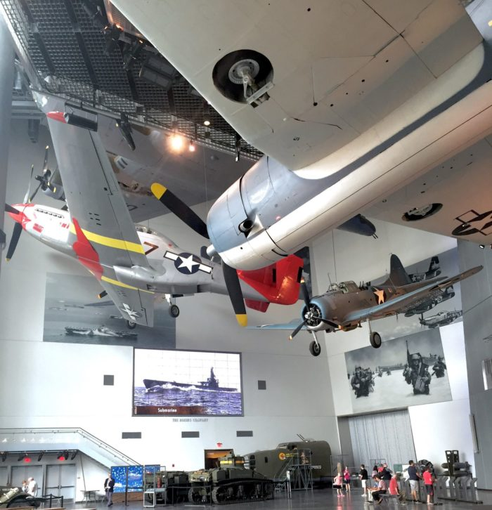 Children and adults alike wonder at the incredible variety of historic planes and other war equipment on display here.