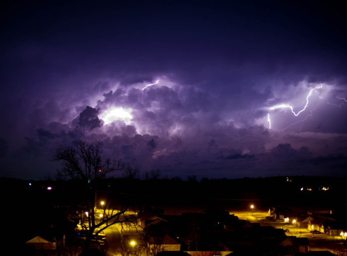 2. You've watched so many storms from your front porch you sometimes wonder how you haven't been sucked into the sky or struck by lightning yet.