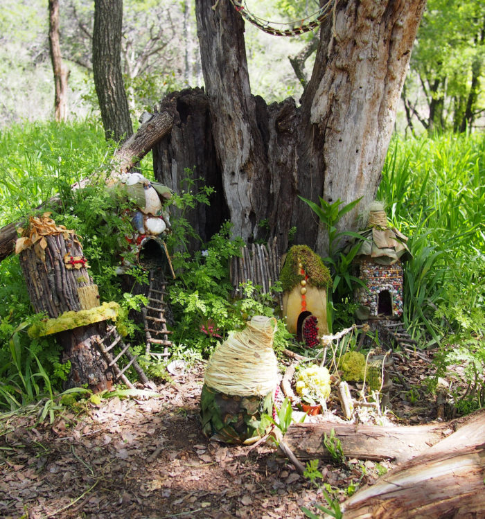 The little ones will be in awe. They'll peer through the tiny windows and doors to see if Tinkerbell is fluttering around in there.