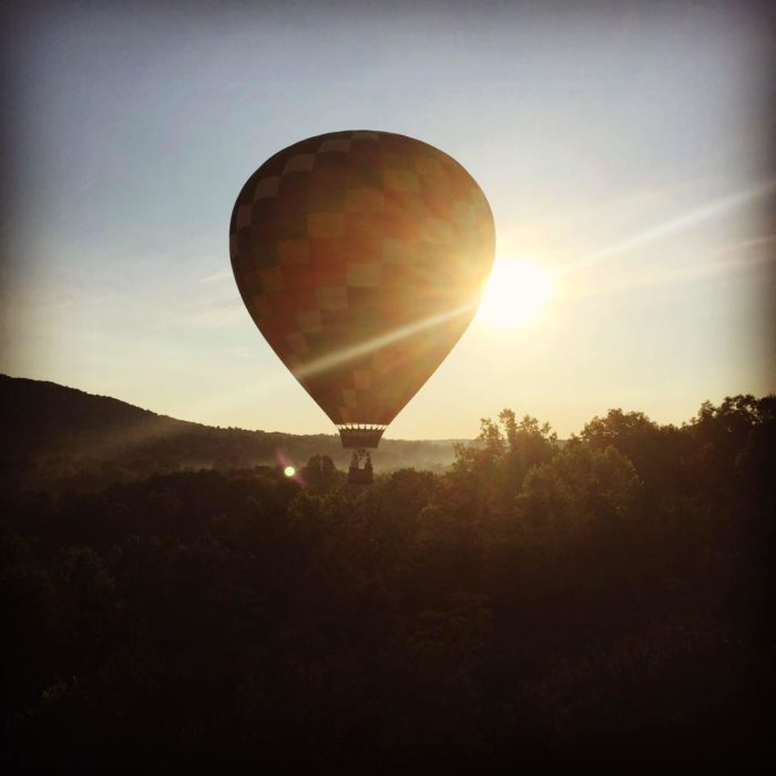 7. Soar above Charlottesville in a hot air balloon.