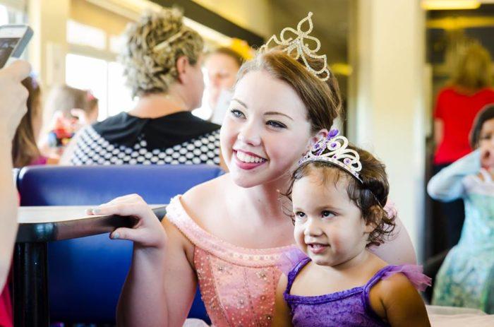 Princess daydreams come true on the Austin Steam Train.