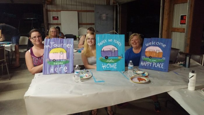 ...group painting...