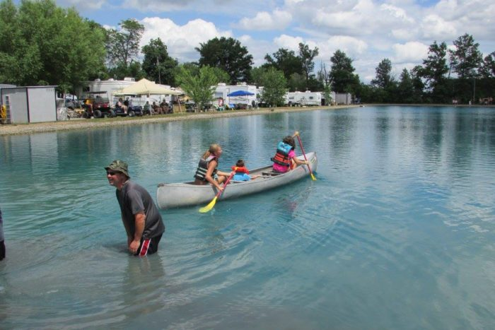 Although you can't swim in the quarry, it can be used for other water activities, such as canoeing.