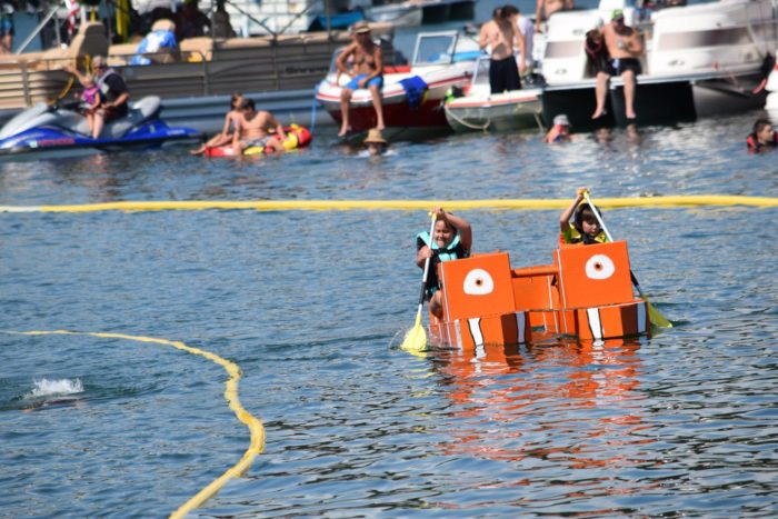 Every year in July, you can find the World Championship Cardboard Boat Races on Greers Ferry Lake. Even if you don't know anyone who's competing, it's an adorable thing to watch.