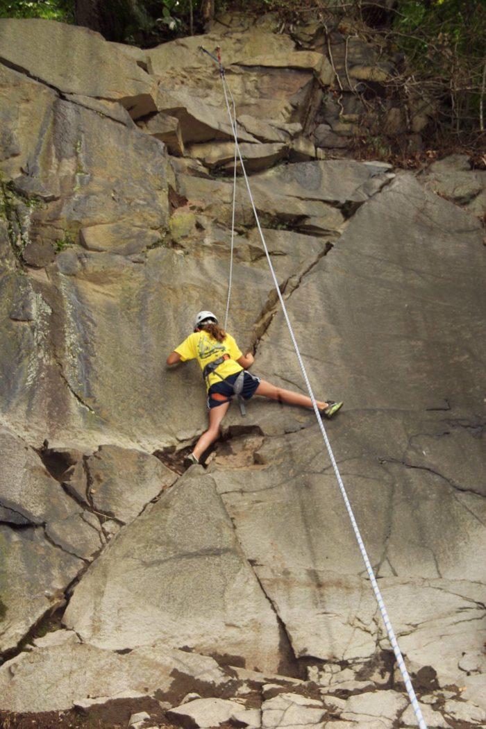 7. Climb in rural, rocky... Wilmington?