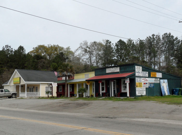 """""""Downtown"""" Yemassee is the quintessential model of a typical South Carolina tiny town."""