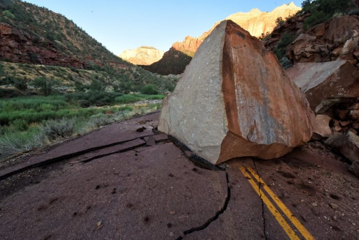 But perhaps when they get this boulder moved, they'll find the body of a roadrunner?