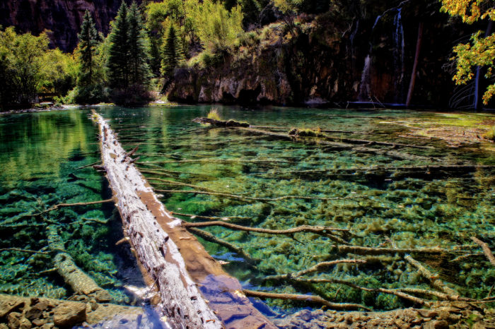 Because of its rare components, Hanging Lake's ecosystem is extremely fragile and faces the possibility of ecological disruption. When you go, make sure to clean up after yourself, leave your dog at home, and NEVER touch the water.