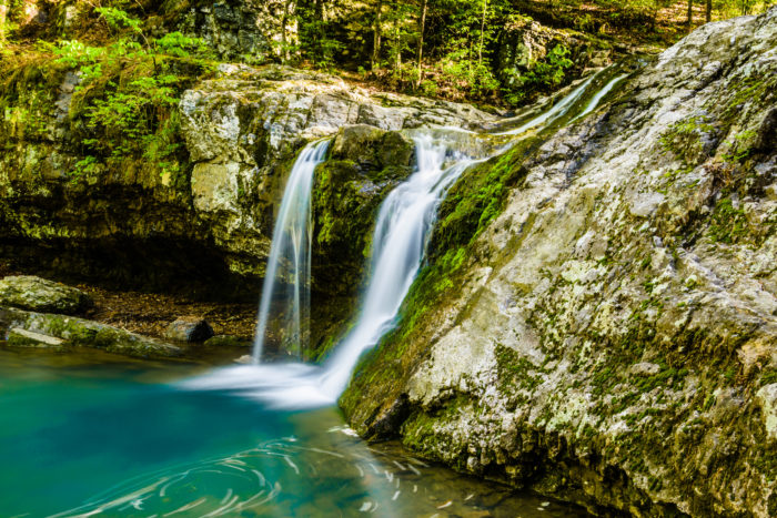 You might find other Arkansas water that's as blue, but there's nothing bluer than the water at Falls Creek Falls.