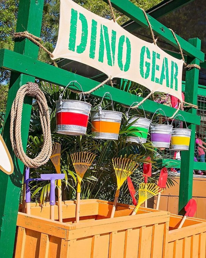 Check out all the dino gear the park offers for their digs!