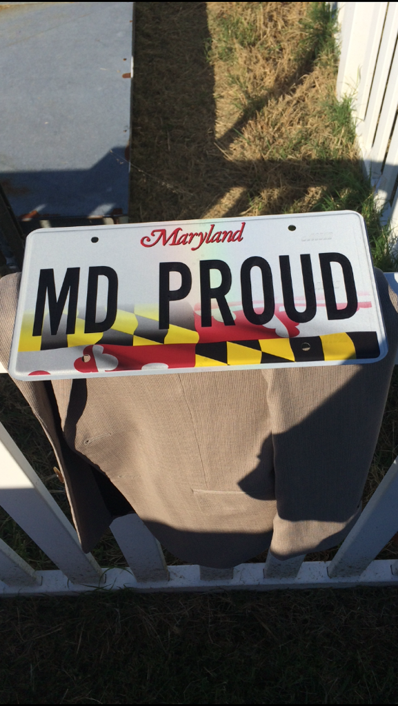 Maryland rallies around the state flag on new md proud plate for Maryland motor vehicle administration