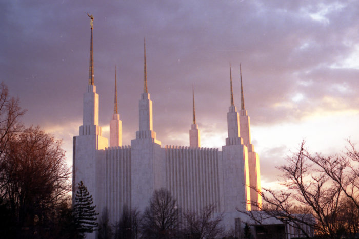 It's known as the Washington DC Temple but it's actually located in Kensington, Maryland. It's the tallest Mormon temple in the entire world, and the third-largest by square footage.