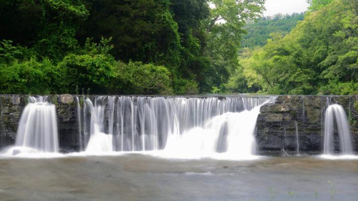 2. Natural Dam (Mountain Fork Creek, north of Van Buren)