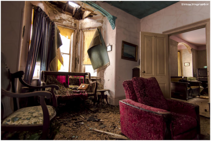 It's not difficult to imagine family life unfolding in this eerie yet beautiful old home.