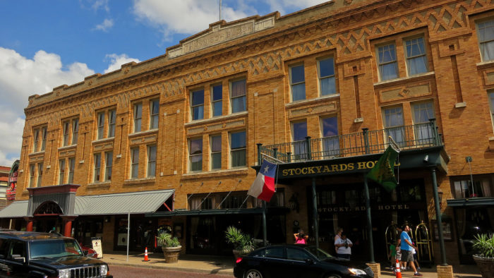 5. Bonnie and Clyde used to use the Stockyards Hotel as a hideout spot.