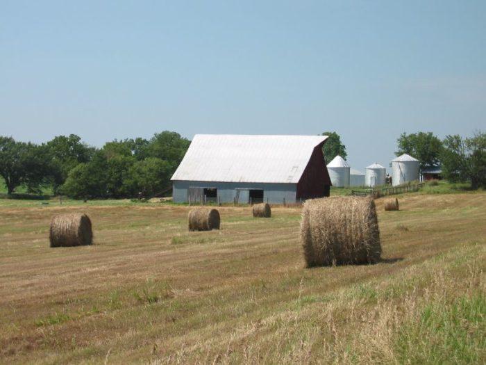 1. Haymaking season, when giants appear in fields all over Nebraska.