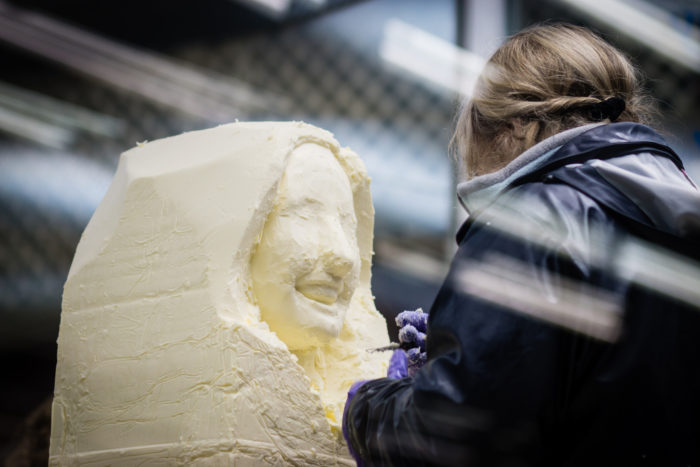 5. The butter sculptures - because when else do we ever get to see things like this?